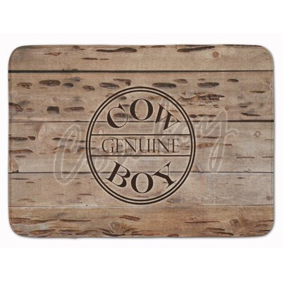Genuine Cow Boy Branded Memory Foam Bath Rug