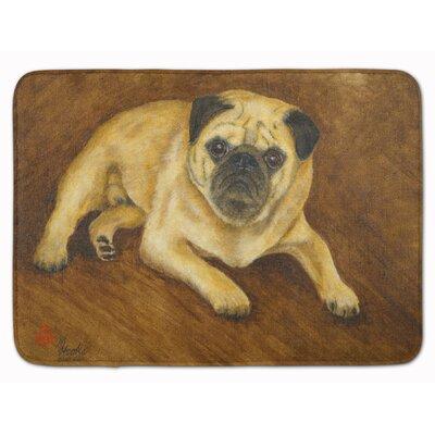 Fawn Pug Roscoe Memory Foam Bath Rug