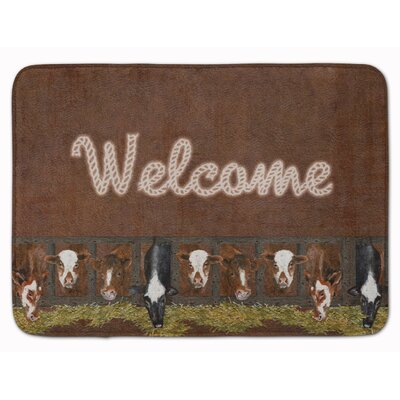Welcome with Cows Memory Foam Bath Rug