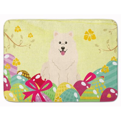 Easter Eggs Samoyed Memory Foam Bath Rug