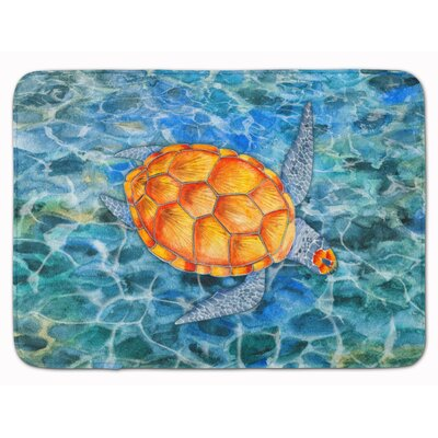 Under Water Sea Turtle Memory Foam Bath Rug