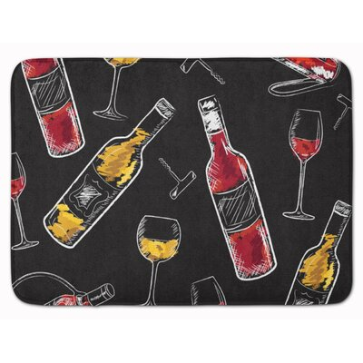 Wine Memory Foam Bath Rug Color: Red/White/Black