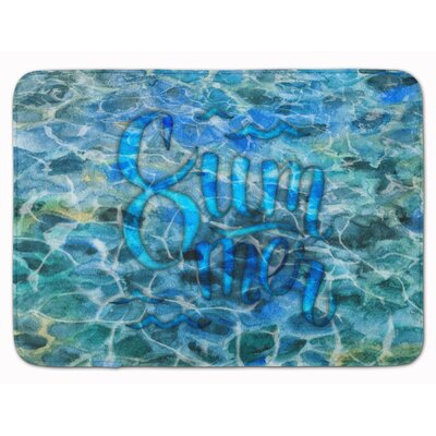 Summer Under Water Memory Foam Bath Rug
