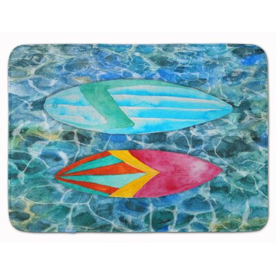 Surf Boards on the Water Memory Foam Bath Rug