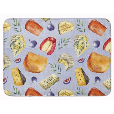 Assortment of Cheeses Memory Foam Bath Rug