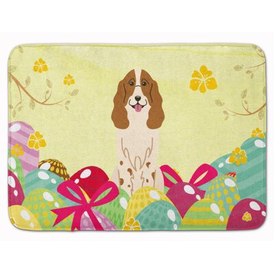 Easter Eggs Russian Spaniel Memory Foam Bath Rug