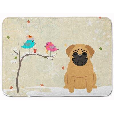 Christmas Presents Friends Pug Memory Foam Bath Rug