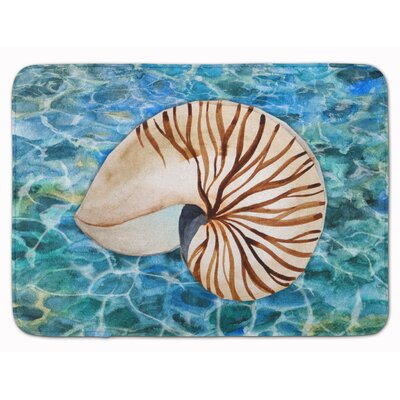 Newland Sea Shell and Water Memory Foam Bath Rug