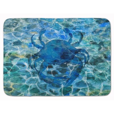 Crab Under Water Memory Foam Bath Rug