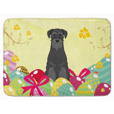 Easter Eggs Standard Schnauzer Memory Foam Bath Rug Color: Black