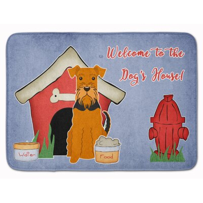 Dog House Airedale Memory Foam Bath Rug