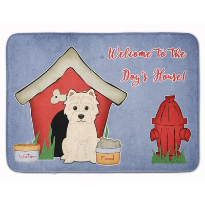 Dog House Westie Memory Foam Bath Rug