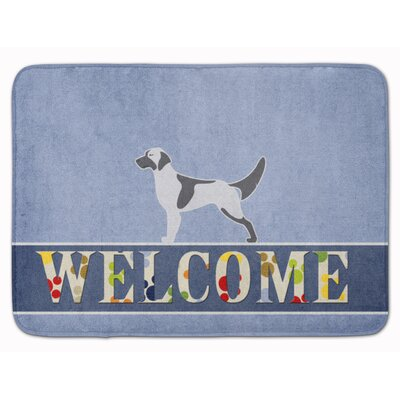 English Setter Welcome Memory Foam Bath Rug