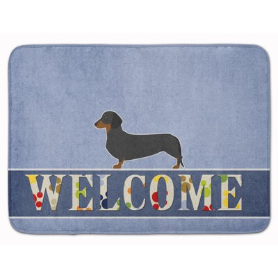 Central Dachshund Memory Foam Bath Rug