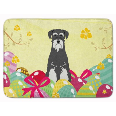 Easter Eggs Standard Schnauzer Memory Foam Bath Rug Color: Gray