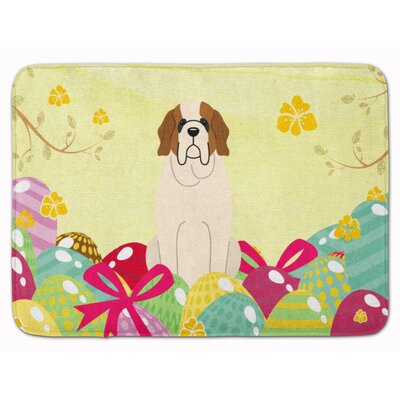 Easter Eggs Saint Bernard Memory Foam Bath Rug