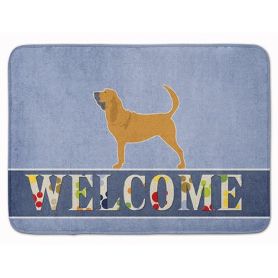 Bloodhound Welcome Memory Foam Bath Rug