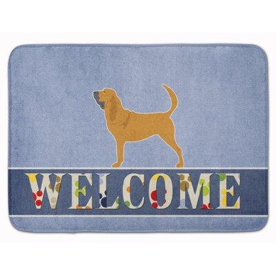 Bloodhound Welcome Memory Foam Bath Rug