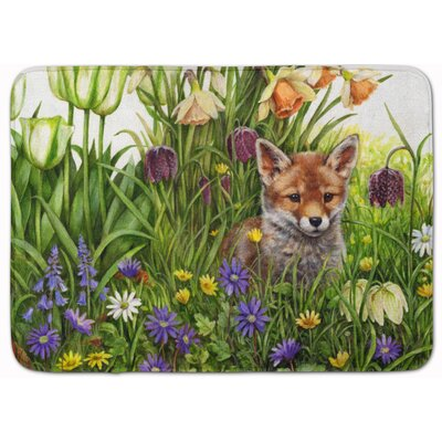 April Fox by Debbie Cook Memory Foam Bath Rug