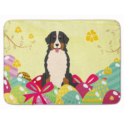 Easter Eggs Bernese Mountain Dog Memory Foam Bath Rug