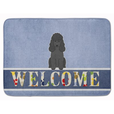 Poodle Welcome Memory Foam Bath Rug Color: Black