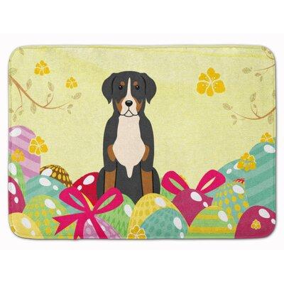 Easter Eggs Greater Swiss Mountain Dog Memory Foam Bath Rug