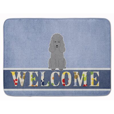 Poodle Welcome Memory Foam Bath Rug Color: Silver