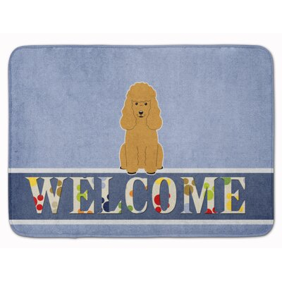 Poodle Welcome Memory Foam Bath Rug Color: Tan