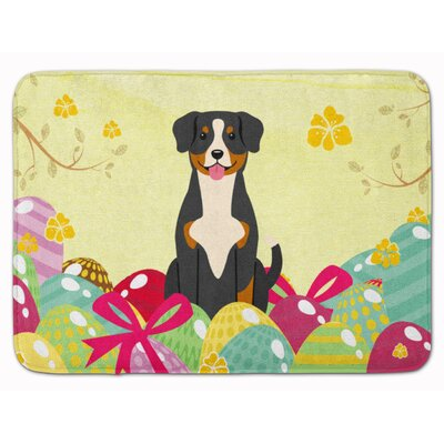 Easter Eggs Entlebucher Memory Foam Bath Rug