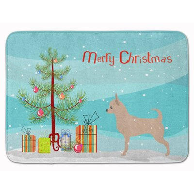 Chihuahua Merry Christmas Tree Memory Foam Bath Rug
