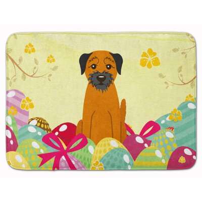 Easter Eggs Border Terrier Memory Foam Bath Rug
