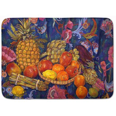 Fruit and Vegetables by Neil Drury Memory Foam Bath Rug