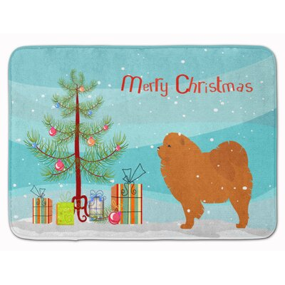 Chow Chow Merry Christmas Tree Memory Foam Bath Rug