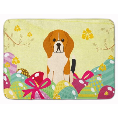 Easter Eggs Beagle Tricolor Memory Foam Bath Rug