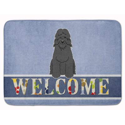 Bouvier des Flandres Welcome Memory Foam Bath Rug