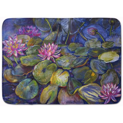 Waterlilies by Neil Drury Memory Foam Bath Rug