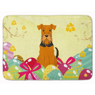 Easter Eggs Airedale Memory Foam Bath Rug