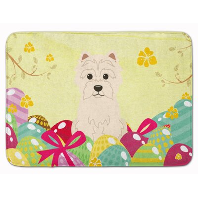 Easter Eggs Westie Memory Foam Bath Rug