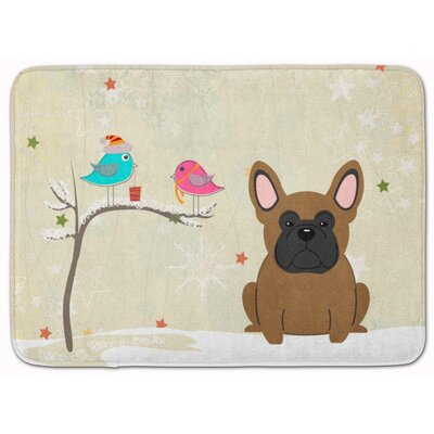 Christmas�French Bulldog Memory Foam Bath Rug
