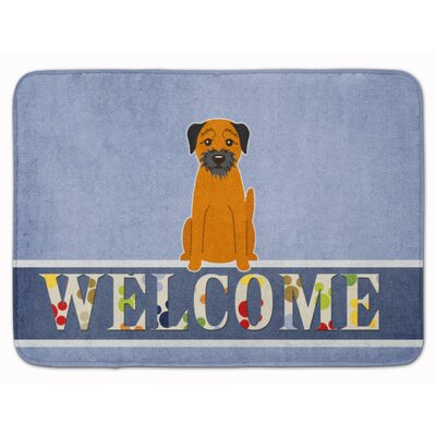 Border Terrier Welcome Memory Foam Bath Rug