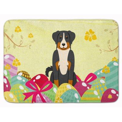 Easter Eggs Appenzeller Sennenhund Memory Foam Bath Rug