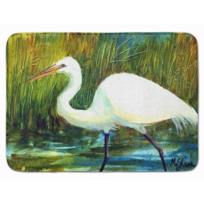 Bird Egret Memory Foam Bath Rug