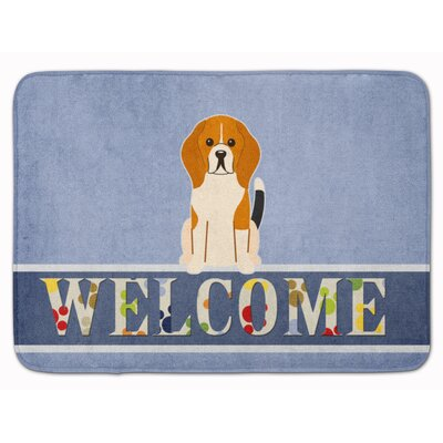Beagle Tricolor Welcome Memory Foam Bath Rug