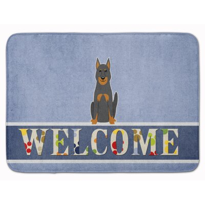 Beauce Shepherd Dog Welcome Memory Foam Bath Rug