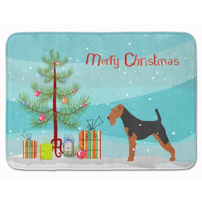 Airedale Terrier Merry Christmas Tree Memory Foam Bath Rug