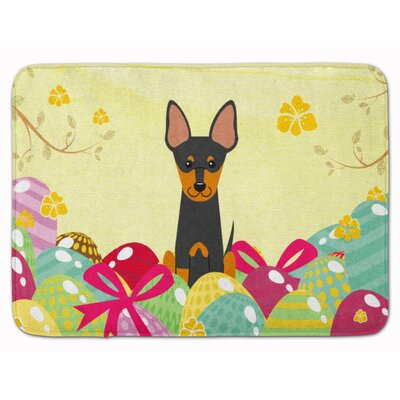 Easter Eggs English Toy Terrier Memory Foam Bath Rug