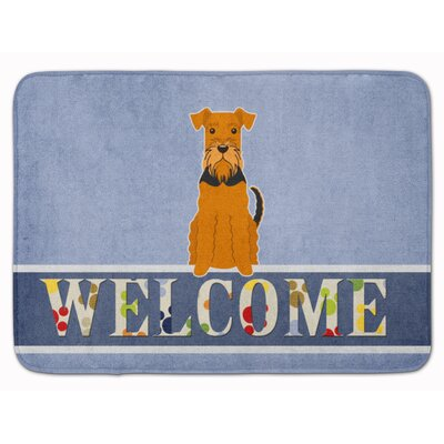 Airedale Welcome Memory Foam Bath Rug