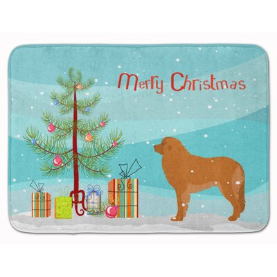 Leonberger Merry Christmas Tree Memory Foam Bath Rug