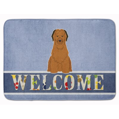 Briard Welcome Memory Foam Bath Rug Color: Brown