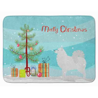 Samoyed Merry Christmas Tree Memory Foam Bath Rug